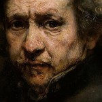 Detail of Rembrandt Self-Portrait, 1659